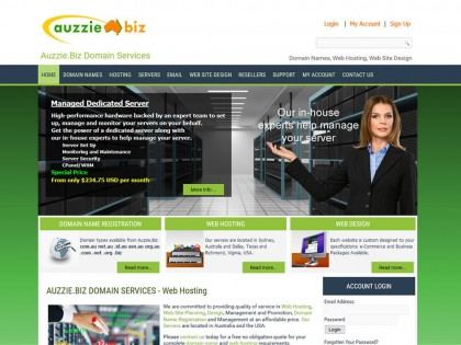 Auzzie.Biz Managed Servers
